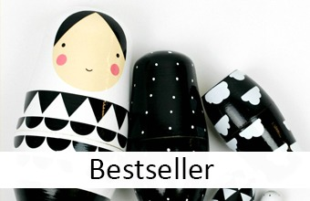 Matroschka Black and White - designupdate Bestseller