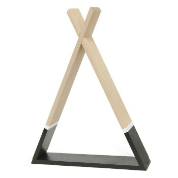 Tipi Shelf black - Das Wandregal von Petit Monkey