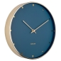 Mobile Preview: Wanduhr Petite blau gold von Karlsson bestellen