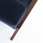 Mobile Preview: Retrostar Sessel Velvet navyblau von Sternzeit Design