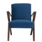 Preview: Retrostar Sessel Velvet royalblau von Sternzeit Design