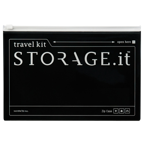 Storage.it Travel Zip Case schwarz von Marks Europe