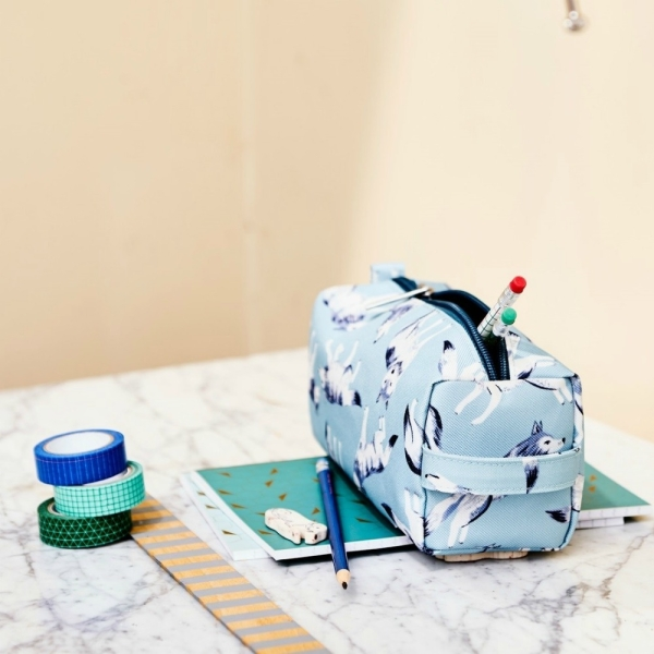 Federtasche – Pencil Case Wolves von Petit Monkey