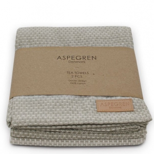 Aspegren Geschirrtücher Waffle light gray