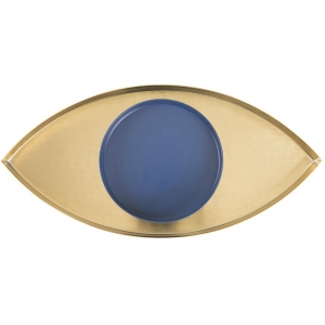The Eye Schmuckschale gold blau von Doiy Design