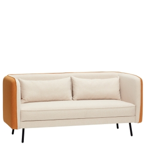 HÜBSCH Sofa beige/orange