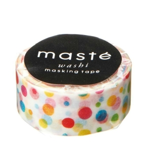 Masking Tape Colorful Dots