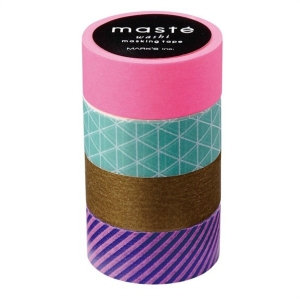 Masking Tape Set - gold neonpink