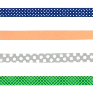 Masking Tape Set - silber neonorange