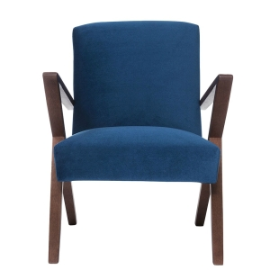 Retrostar Sessel Velvet royalblau